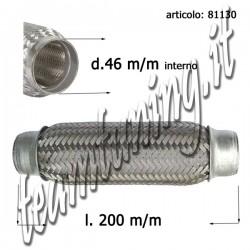 flessibile marmitte rinforzato con maglia acciaio 200 mm diametro esterno  46 mm
