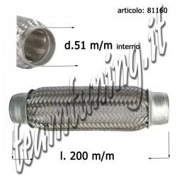 flessibile marmitte rinforzato con maglia acciaio 200 mm diametro esterno  51 mm