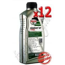 EP 75W/90 lt.12  Olio lubrificante 100% sintetico multigrado per tutti i cambi manuali di velocità Green Star  uso professionale