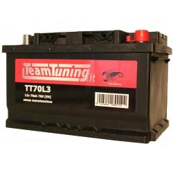 Batteria auto 70AH 640EN bassa positivo DX Power Frame, batteria avviamento auto misure, 278x175x175, S70LB3, 570144064