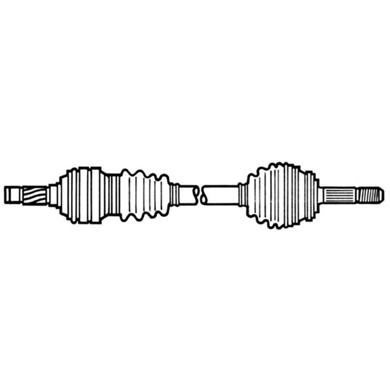 OPEL CORSA B 1000cc SEMIASSE ANTERIORE SX CON ABS L.560mm 374042 374046