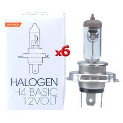H4 LAMPADA HALOGEN 12v 60/55w P43T M-TECH LAMPADINA FARI