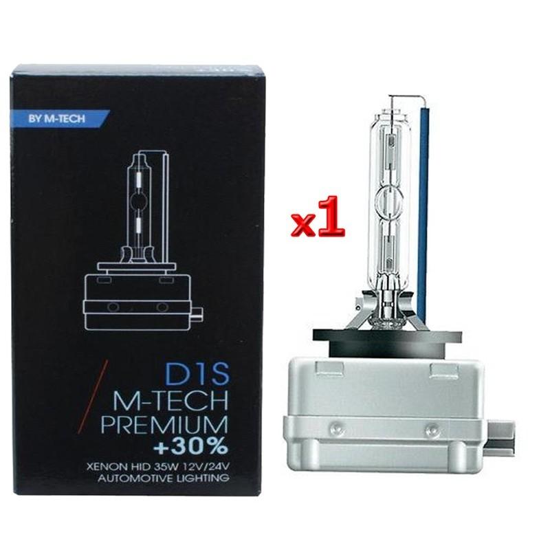 D1S 4300K 12V 35W LAMPADA Xenon M-TECH +30% LUCE SINGOLA