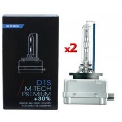 D1S 4300K 12V 35W LAMPADA Xenon M-TECH +30% LUCE 2 PEZZI