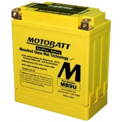 MotoBatt MB9U 12v 11ah Batteria moto AGM 136x76x155 BQ014 ACIDO TRATTENUTO ALTA POTENZA POLI QUADFLEX