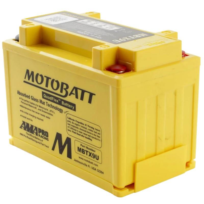 MotoBatt MBTX9U 12v 10,5ah Batteria moto AGM 151x87x105 BQ031 ACIDO TRATTENUTO ALTA POTENZA With Quadflex tecnology