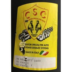 Marmitta posteriore uso sportivo CSC VO030031, VW GOLF 1 16cc GTI dal 1976 al 1982 110hp 055253609Q-171253609A