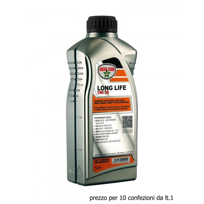 5w30 long life 10x1 lt multigrado sintetico olio motore Green Star GM – OPEL GM-LL-A-025, GM-LL-B-025 1942006, 1942000
