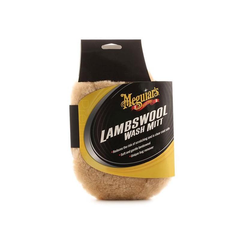 Meguiar's A7301 Lambswool Wash Mitt, Guanto per Lavaggio in Lana d'Agnello