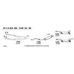 Alfa 33 15 4X4 BN-Berlina e SW-Famigliare 84-89, Marmitta centrale 60506784, 60557392, 60562157